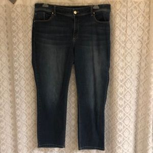 Denim cropped pants.  Chico's size 2.5.